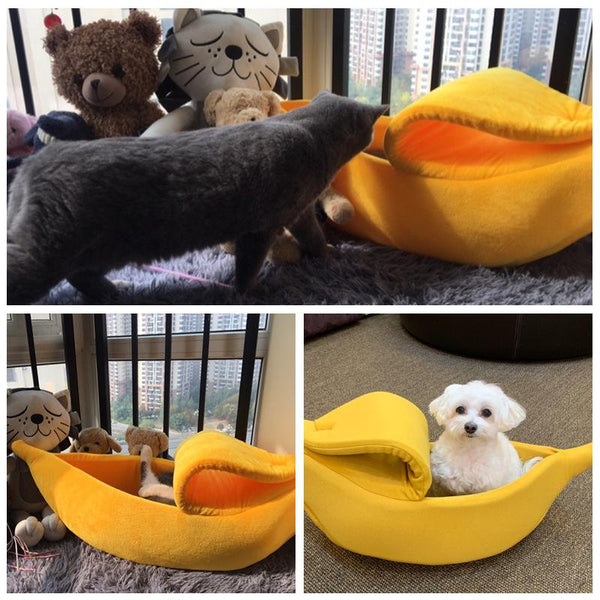 Warm Banana Shaped Pets Dog/Cat Sleeping House Bag K15388 - kawaiimoristore