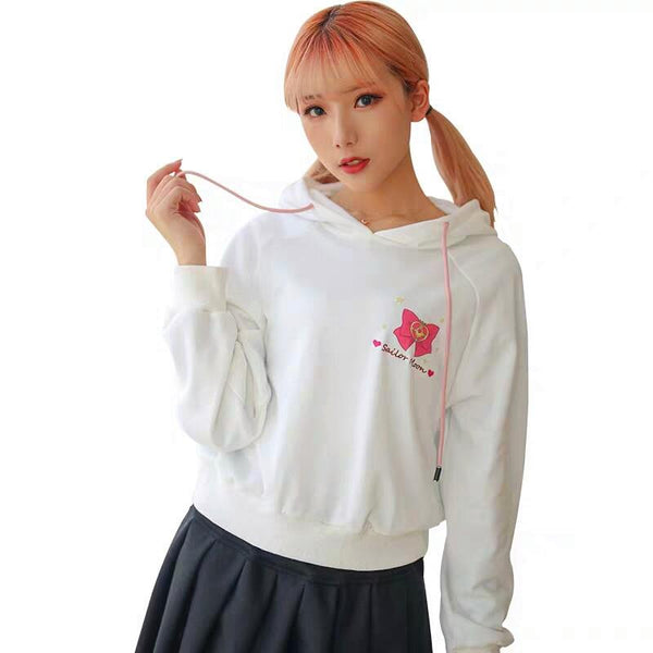 White Sailor Moon Hoodie Jumper