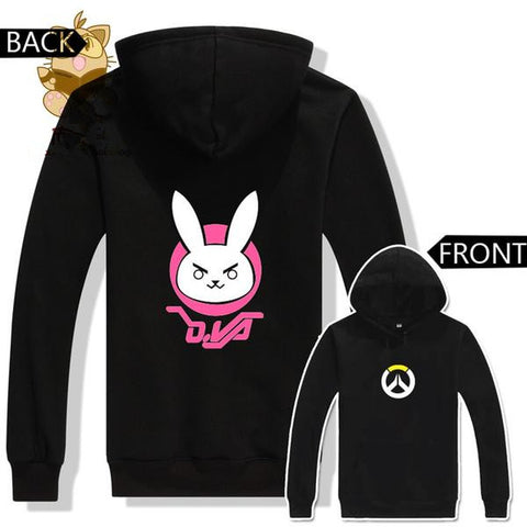 OVER WATCH  Dva Lovely Cute Rabbit Two Colors Printing DVA Hoodies KW1710510