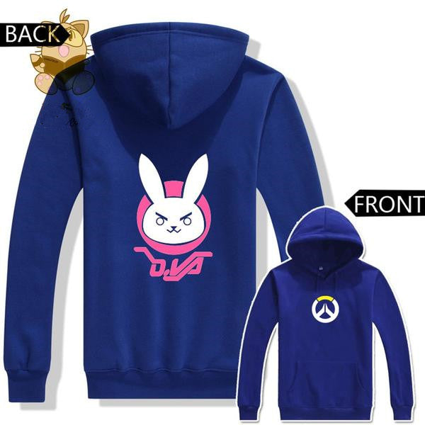 OVER WATCH  Dva Lovely Cute Rabbit Two Colors Printing DVA Hoodies