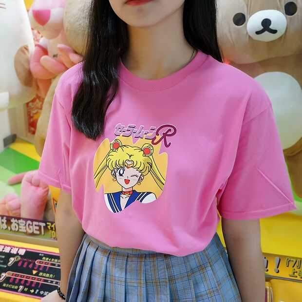 Pink Sailor Moon Tee Shirt K13517