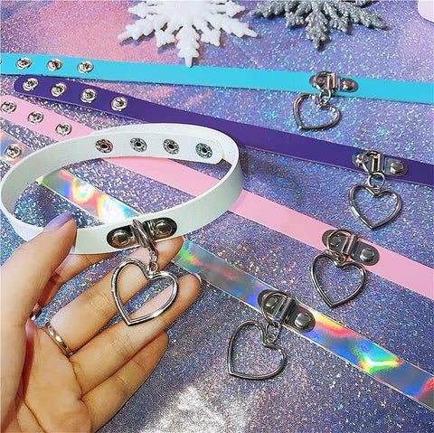 7 Colors Harajuku Heart Choker