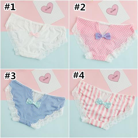 Japanese Kawaii Bow Lace Underwear