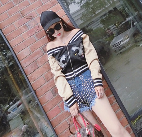 Harajuku Fashion Dew Shoulder Jacket