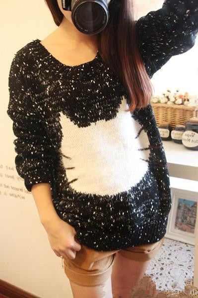 Cute Cartoon Cat Sweater KW179691