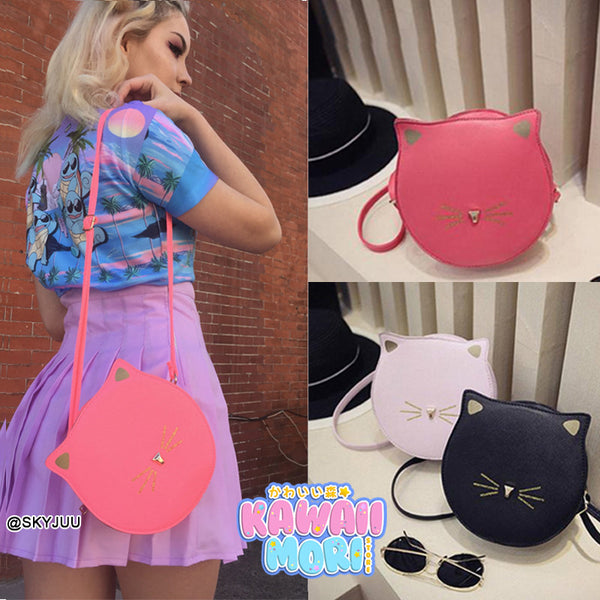 4 Colors Kawaii Neko Mini Round Shoulder Bag KW168470