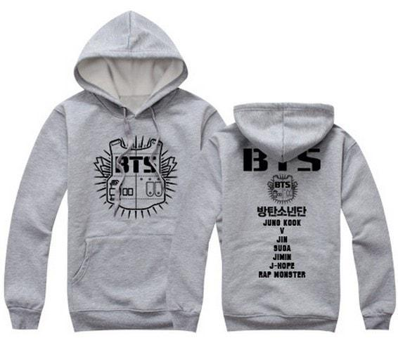 Black/Gray/Red BTS Hoodie Jumper