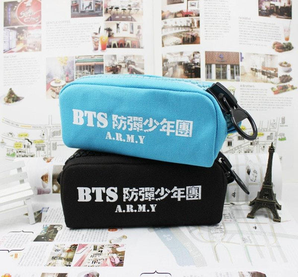 Blue/Black BTS Army Pencil Case