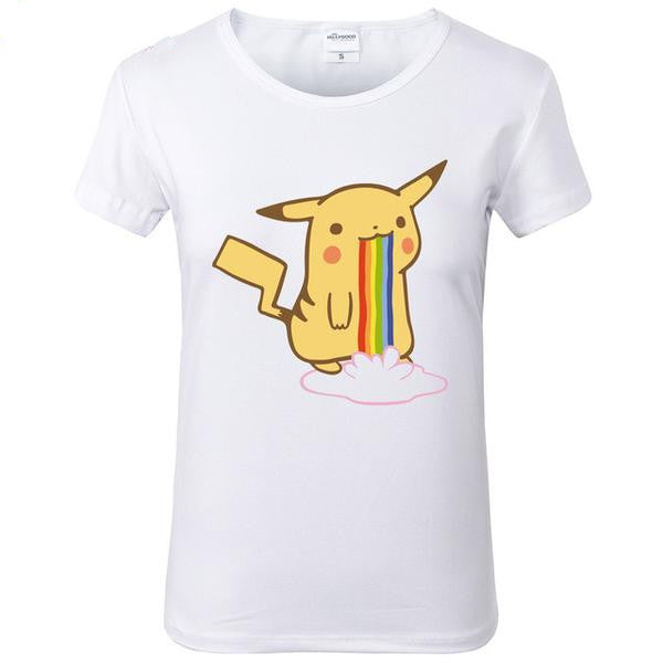 Pikachu 3D Print Short Sleeve Tops Tees