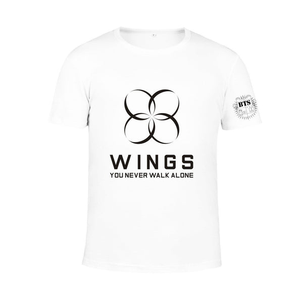 4 Colors BTS Wings You Never Walk Alone Tee Shirt