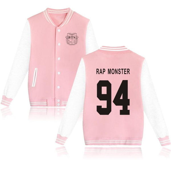 Pink BTS Preppy Jacket Coat