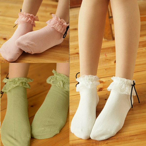 3 Colors Mori Girl Kawaii Princess Socks KW165645