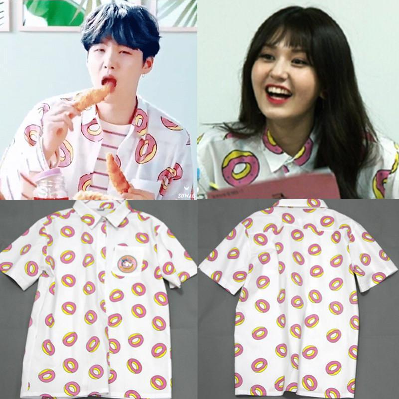 BTS Suga Donut Collared Shirt