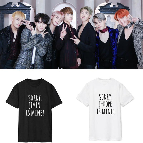 Black/White Sorry BTS is Mine Tee Shirt