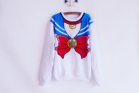 [M/XL]Sailor Moon Sweater Fleece Jumper
