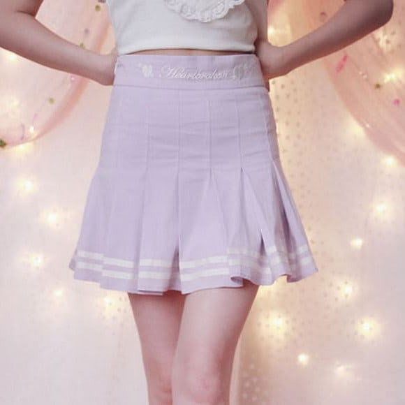 Kawaii Japanese Pastel Purple Skirt