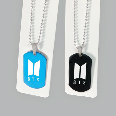 Blue/Black BTS Pendant Necklace