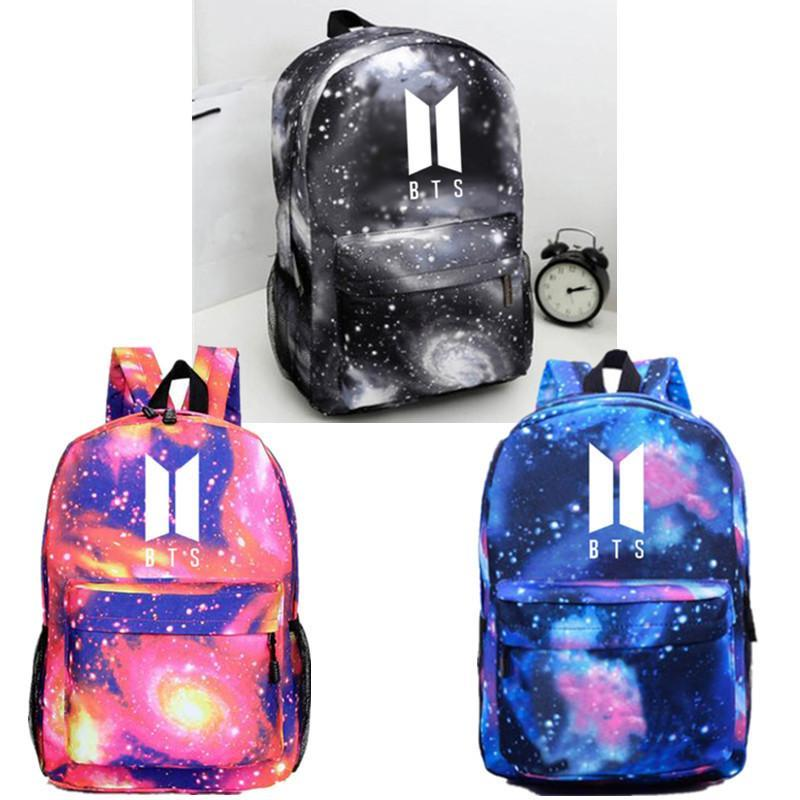 Red Blue Gray BTS Galaxy Space Backpack – kawaiimoristore