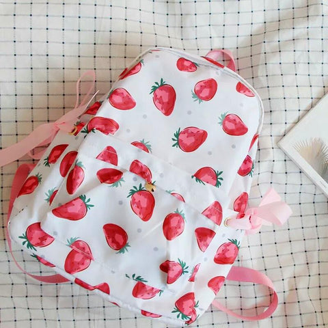 Kawaii Strawberry Laced Backpack