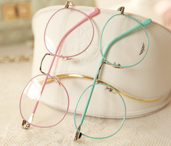 Vintage Candy Color Round Glasses KW179131