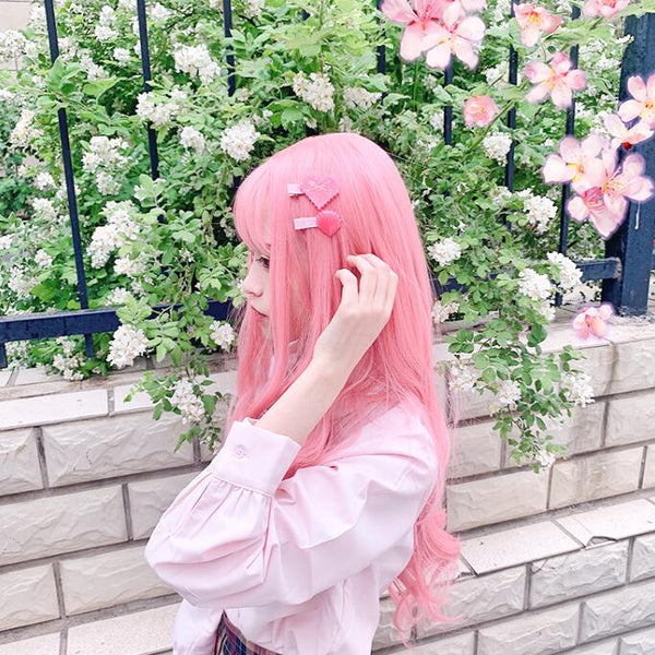 Pink Orange Lolita Cosplay Wigs K15008 - kawaiimoristore