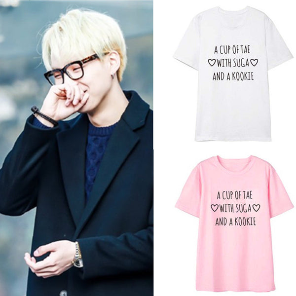 4 Colors BTS SUGA & KOOKIE Tee Shirt K13423