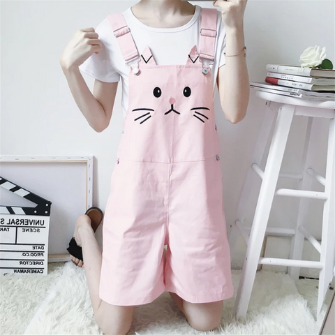 4 Colors Kawaii Cats Strap Shorts K13187