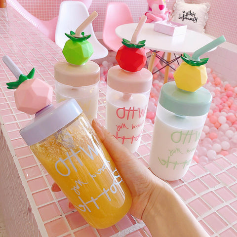 4 Colors Kawaii Fruits Water Bottle K14048