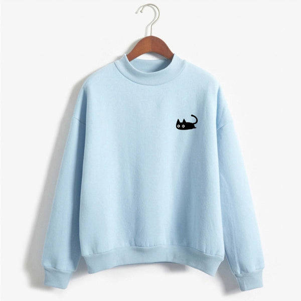 4 Colors Kawaii Groveling Cat Jumper Sweatshirt K13913