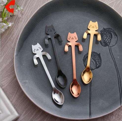 4 Colors Kawaii Kitty Cat Spoon KW1711095