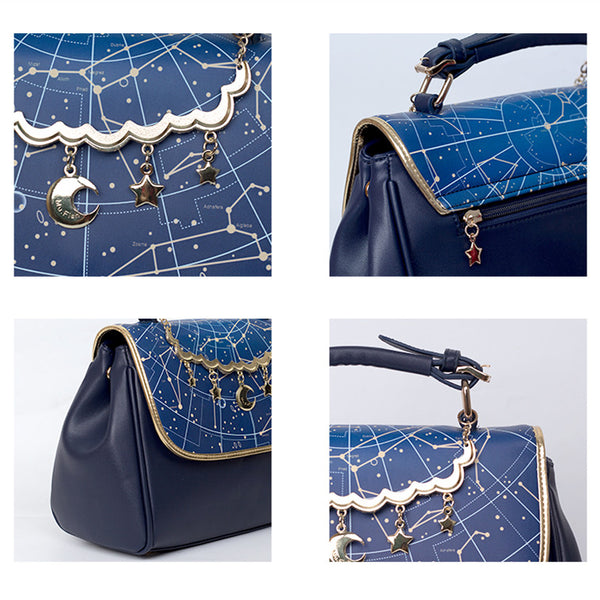 Astrology Handbag Shoulder Bag KW168466 - kawaiimoristore