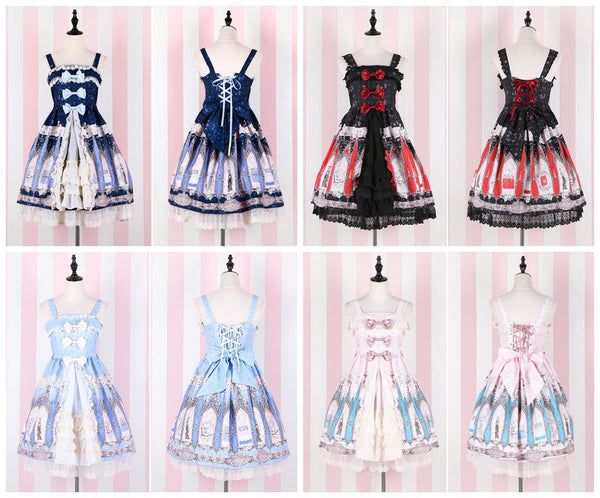 4 Colors Lovely Lolita Dress K13220