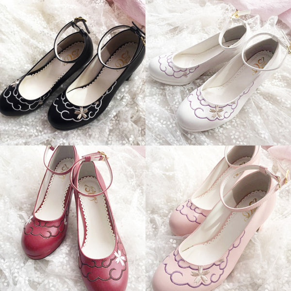 4 Colors Pastel Bunny Lolita Heels Shoes K12882