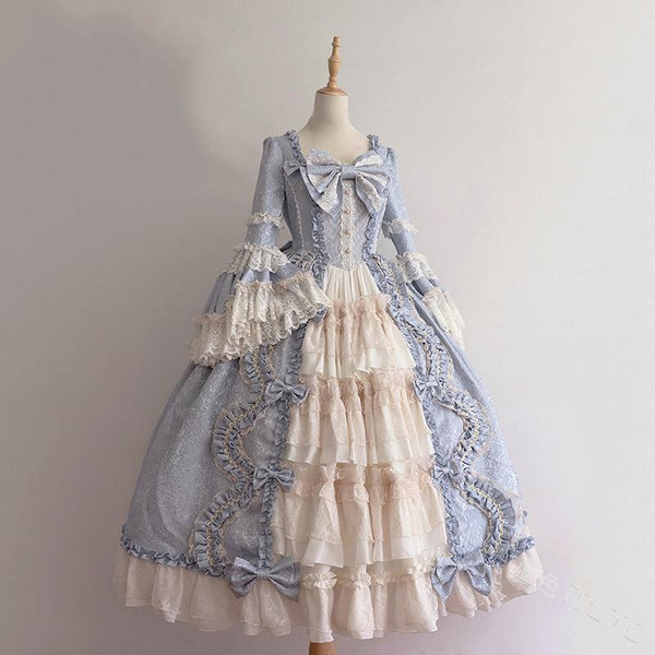 4 Colors Vintage Falbala Lace Lolita Dress K14308