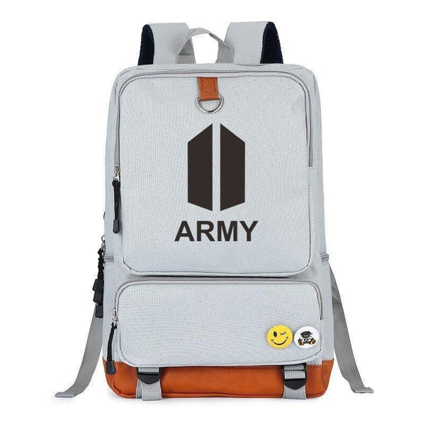 Black/Gray BTS ARMY Backpack