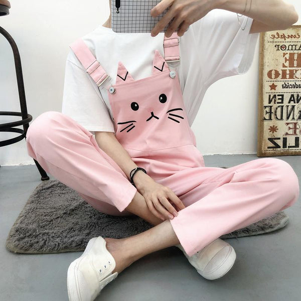 5 Colors Cat Kitty Neko Overalls Suspender Pants K13187