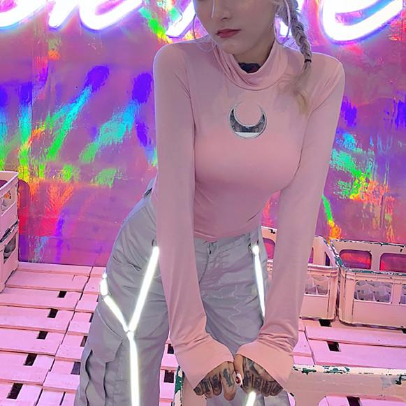 5 Colors Sweet Moon Long Sleeve Shirt K13449
