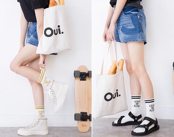 """Leave Me Alone"" high Socks  KW1710720"