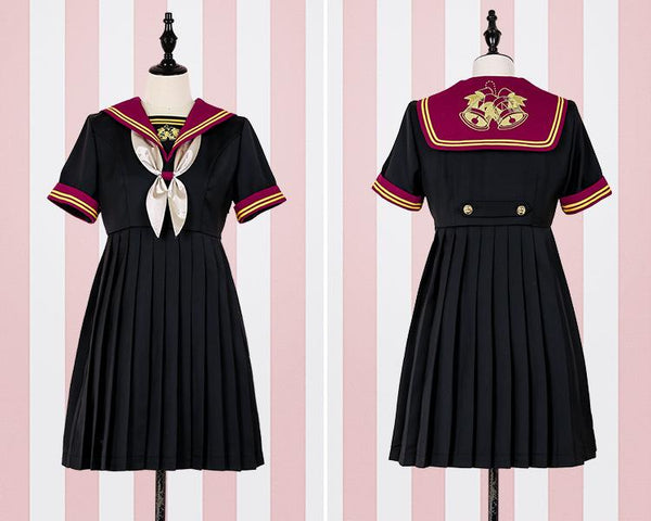 Kawaii Lolita Navy Uniform Bow Dress KW1811719