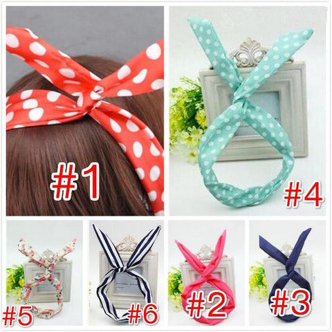 6 Colors Bunny Ear Hair Band KW141474