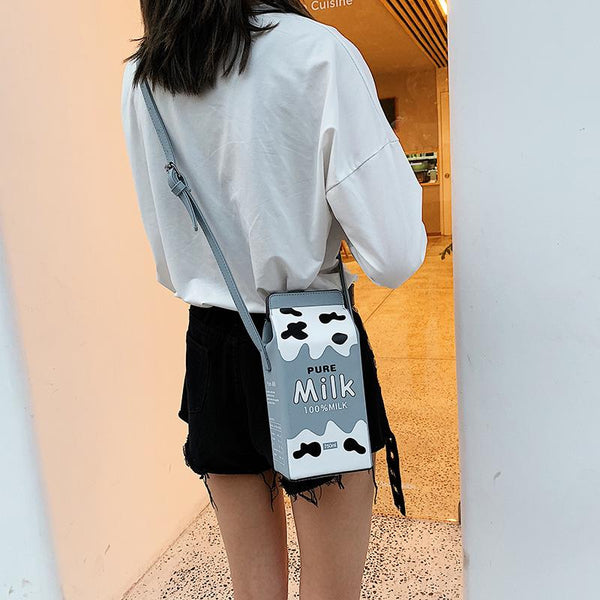 6 Colors Kawaii Milk Box Cross Body Bag K13758