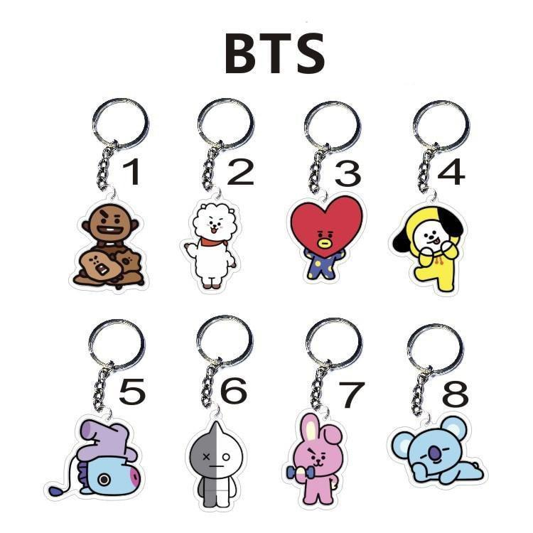 Kawaii BTS X BT21 Key Chain