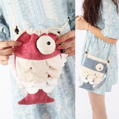 Harajuku Fish Canvas Bag KW179112