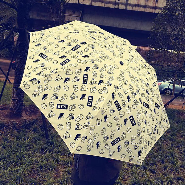 Black/White BTS BT21 Umbrella