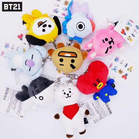 Kawaii BTS X BT21 Plush Key Chain
