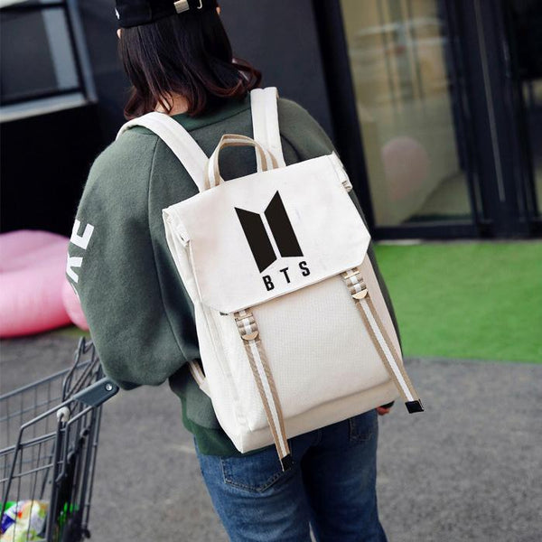 4 Colors BTS Preppy Style Backpack K12734
