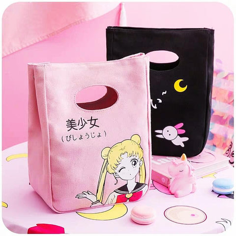 4 Colors Sailor Moon Lunch Handbag