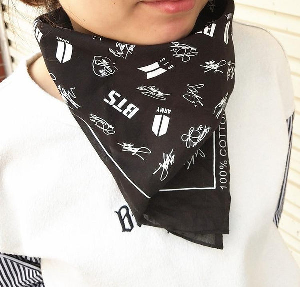 Black/Red BTS ARMY Scarf