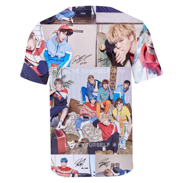 BTS Love Yourself 3D Tee Shirt