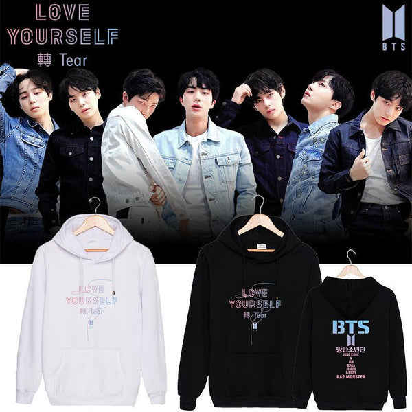 Black/White BTS Love Yourself Tear Hoodie Jumper